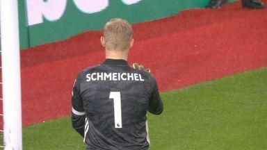 Redmond tests Schmeichel (69)