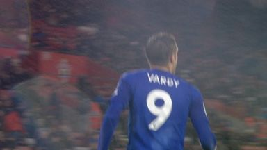 Vardy gets his hat-trick from the spot (pen 90)