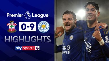 Leicester run riot in record-equaling win