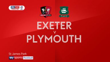 Exeter 4-0 Plymouth
