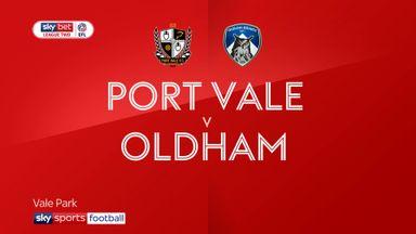 Port Vale 0-0 Oldham