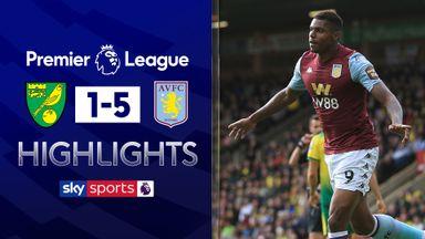 Five star Villa thrash Norwich