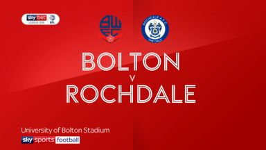Bolton 1-3 Rochdale