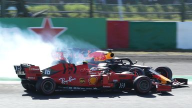 Verstappen and Leclerc collide!
