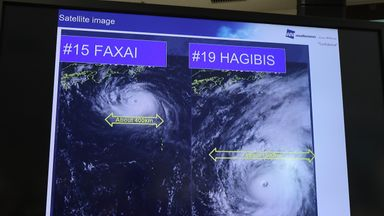 Where is Typhoon Hagibis now?