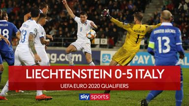 Italy put five past Liechtenstein
