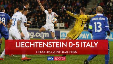 Italy put five past Liechtenstein