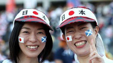 Fans in high spirits for Scotland vs Japan