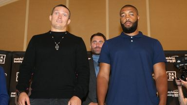 Usyk, Witherspoon public work outs