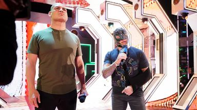 Cain Velasquez stares down Brock Lesnar