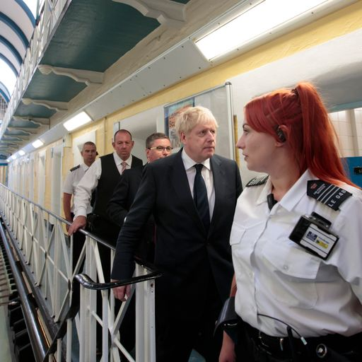 Boris Johnson targets drugs, weapons and phones in prison crackdown