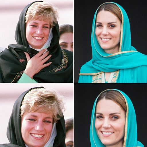 Kate follows Princess Diana's footsteps on Pakistan tour