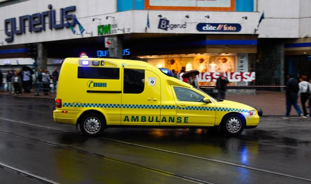 Man arrested after running down several people in stolen ambulance in Oslo
