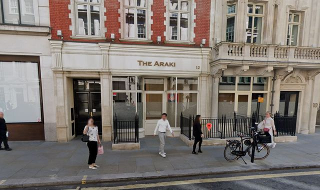 The Araki: 'No explanation' as London restaurant loses all three Michelin stars