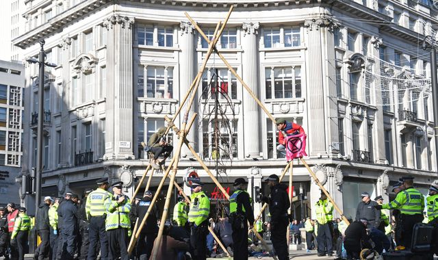 Extinction Rebellion protesters return to block off central London