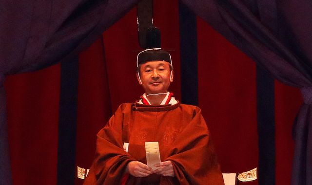 Japan's Emperor Naruhito formally declares ascension to throne in ancient ceremony