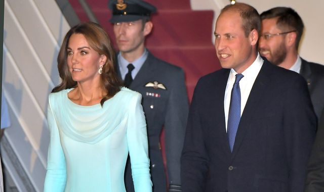 William and Kate arrive in Pakistan in first royal visit to the country in 13 years