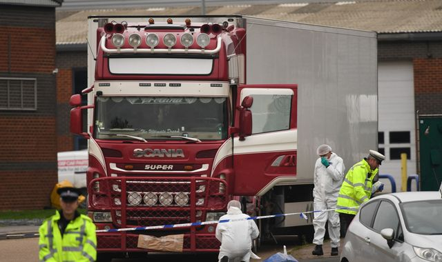 Essex lorry deaths: Man from Northern Ireland arrested over 39 dead Vietnamese nationals