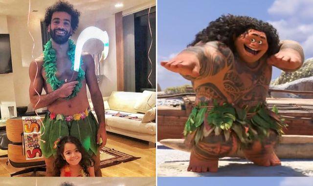 Mohamed Salah: Liverpool star dresses up as Disney character for daughter's birthday