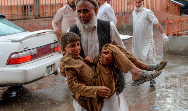 At least 62 people killed in Afghanistan mosque blast during Friday prayers