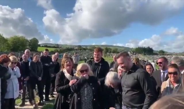 Man speaks from beyond the grave at his own funeral in Ireland