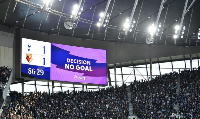 VAR firm apologises to Tottenham and Watford fans for 'no goal' decision confusion