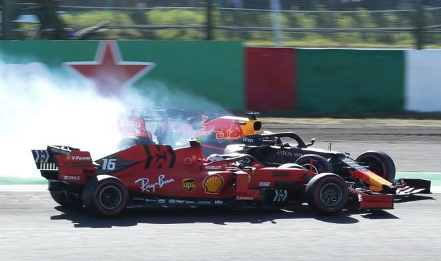 Charles Leclerc given two time penalties in Japanese GP after Max Verstappen collision