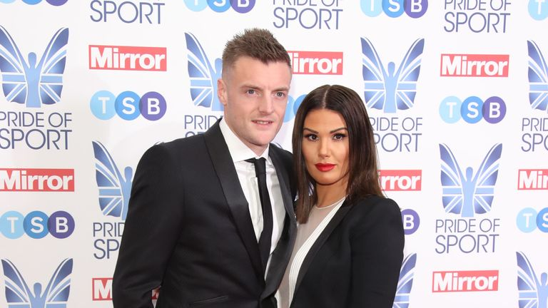 LONDON, ENGLAND - DECEMBER 06: Jamie Vardy and Rebekah Vardy attend the Pride of Sport awards 2018 at Grosvenor House on December 06, 2018 in London, England. (Photo by Mike Marsland/Mike Marsland/WireImage)