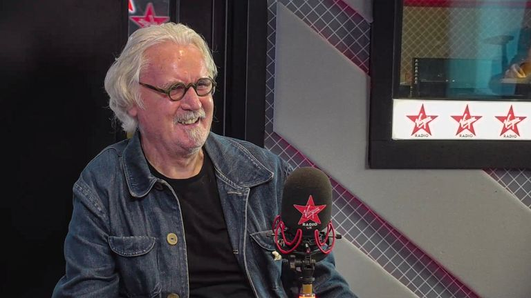 "Undated handout photo issued by Virgin Radio of comedian Billy Connolly, during an interview with Chris Evans on his Virgin Radio Breakfast show, where he said he is ""quite happy taking my medicine and getting along with it"" six years after being diagnosed with Parkinson???s disease."