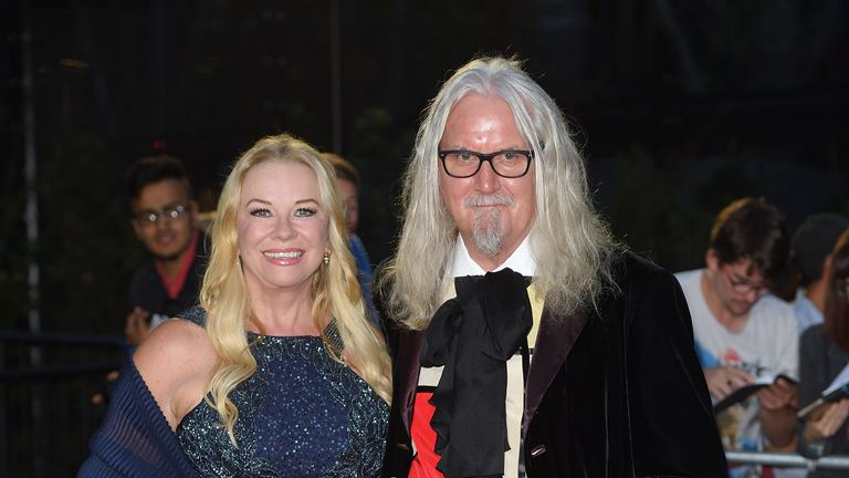 LONDON, ENGLAND - SEPTEMBER 06:  Pamela Stephenson and Billy Connolly arrive for the GQ Men Of The Year Awards 2016 at Tate Modern on September 6, 2016 in London, England.  (Photo by Karwai Tang/Getty Images)