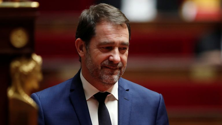 French Interior Minister Christophe Castaner arrives to deliver a speech during a debate on migration at the National Assembly in Paris, France, October 7, 2019. REUTERS/Benoit Tessier