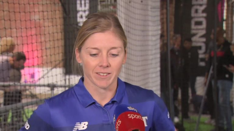 England captain Heather Knight says The Hundred can help bridge the gap between men's and women's cricket