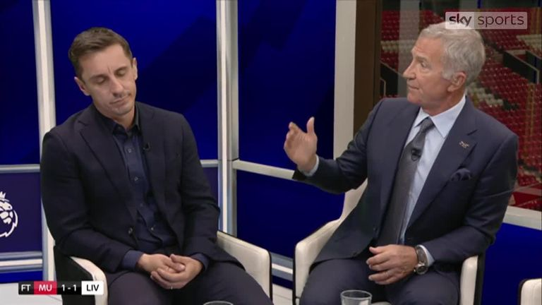 Gary Neville and Graeme Souness disagree on the striker situation at Manchester United
