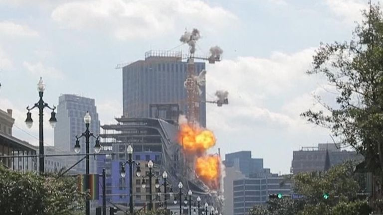 Crane explosion New Orleans
