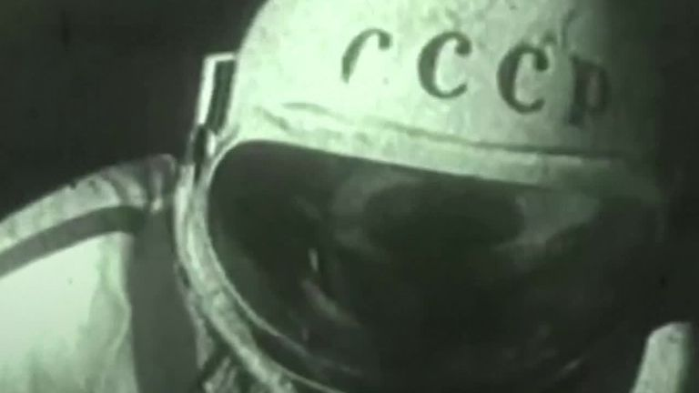 Footage of the first space walk