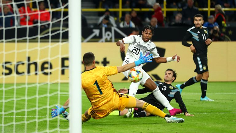 Highlights of Germany's international friendly match against Argentina.