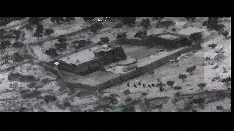 American forces closing in on Abu Bakr al Baghdadi's compound. Pic: US government