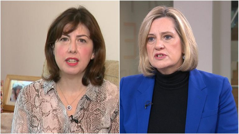 MPs Lucy Powell (left) and Amber Rudd (right)