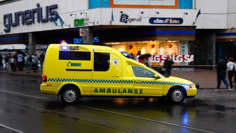 An ambulance was stolen by an armed man in Oslo. File pic