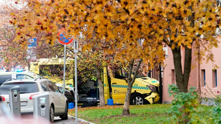 Norwegian police arrested an armed man who drove into several people