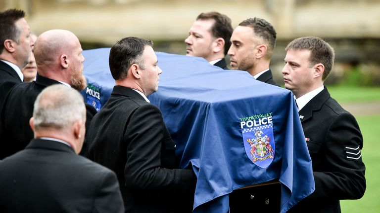 PC Andrew Harper: Hundreds turn out for 'exceptional' officer's funeral