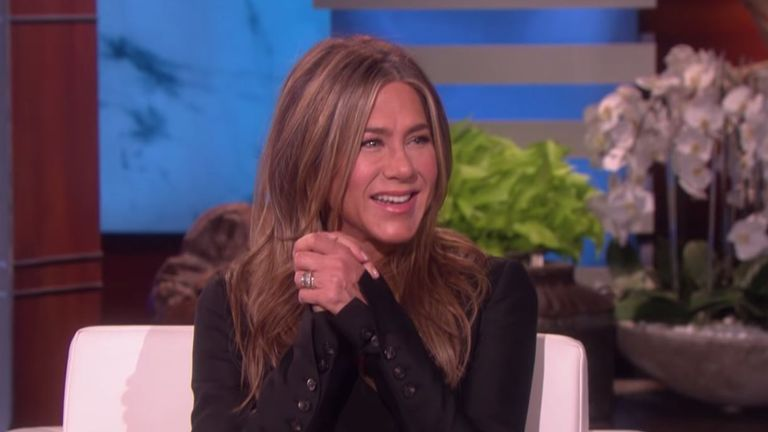 Jennifer Aniston teased of an onscreen reunion with the cast of Friends. Pic: YouTube