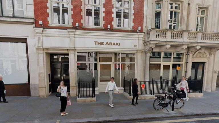 The Araki restaurant