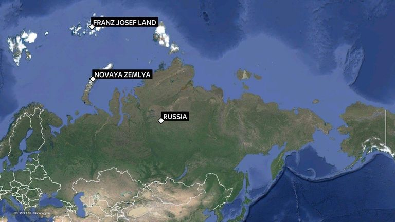 The five islands were discovered on the North Island of Novaya Zemlya