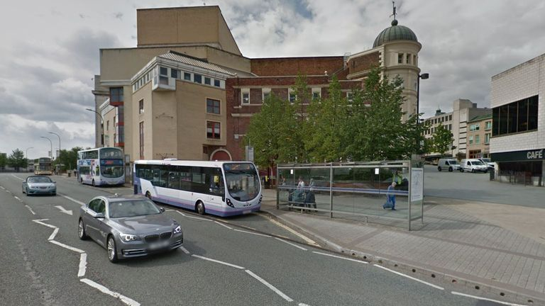 A man thought to be a bus driver was stabbed at Arundel Gate in Sheffield