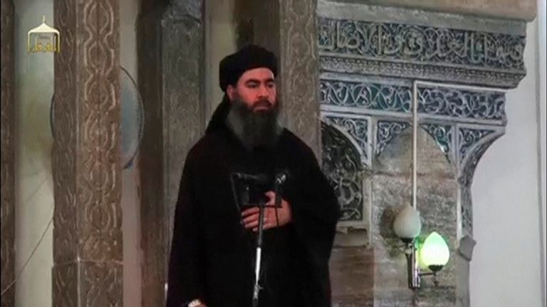 Abu Bakr al Baghdadi's pants were used to identify him before US forces raided his lair, the SDF said