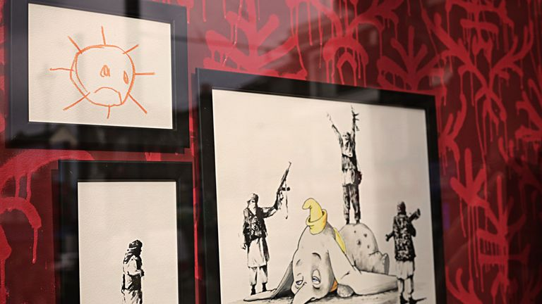 Drawings as well as installations featured in the store. Pic: MR FOX CROYDON