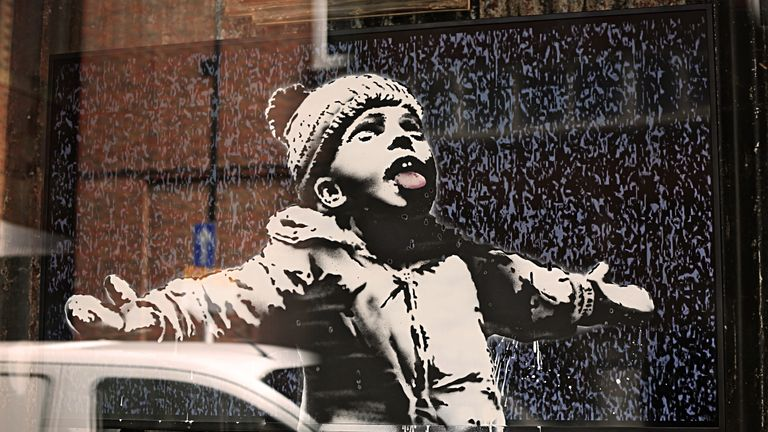 Banksy is known for his street art style. Pic: MR FOX CROYDON