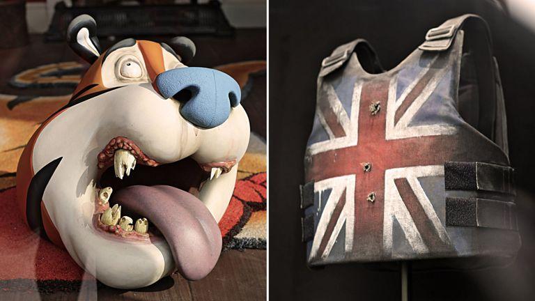 The artworks appeared in a disused shop in Croydon. Pics: MR FOX CROYDON