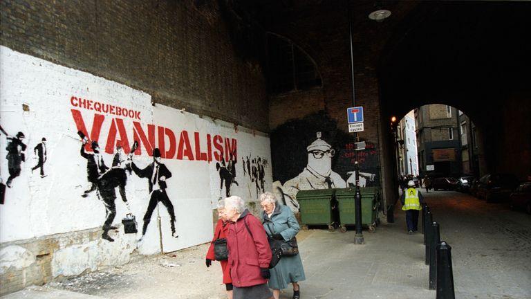 Chequebook Vandalism by Banksy. Pic: Steve Lazarides